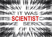Blured text with focus on SCIENTIST — Foto Stock