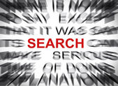 Blured text with focus on SEARCH — Stock Photo