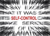 Blured text with focus on SELF-CONTROL — Stock Photo
