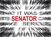 Blured text with focus on SENATOR — Stock Photo
