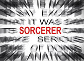 Blured text with focus on SORCERER — Stock Photo