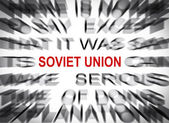 Blured text with focus on SOVIET UNION — Stock Photo