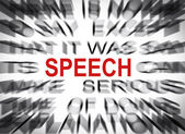 Blured text with focus on SPEECH — Stock Photo