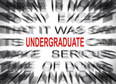Blured text with focus on UNDERGRADUATE — Stock Photo