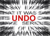 Blured text with focus on UNDO — Stock Photo