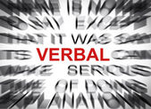 Blured text with focus on VERBAL — Stock Photo