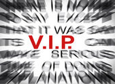 Blured text with focus on VIP — Photo