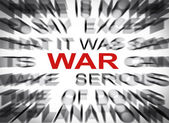 Blured text with focus on WAR — Stock Photo
