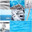 Yacht collage - Yachting concept — Stock Photo