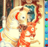 Carousel in vintage tones — Stockfoto