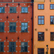 Old Town of Stockholm - Two famous buildings — Stock Photo