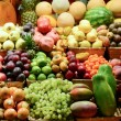 Fruit market with various colorful fresh fruits and vegetables - — Stock Photo #34335219