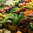 Fruit market with various colorful fresh fruits and vegetables - — Stock Photo #34335857