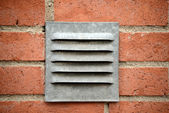 Ventilation system on wall — Stock Photo