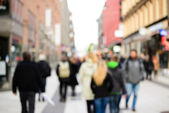 Crowd of shopping people in the city — Stock Photo