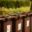 Recycle bins outdoors — Stock Photo