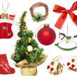 Set of various Christmas ornaments — Stock Photo