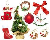 Set of various Christmas ornaments — Stock Photo
