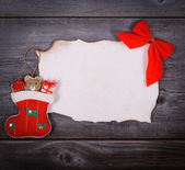 Christmas background - Message for Santa Claus concept — Stock Photo