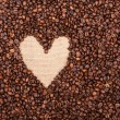 I LOVE COFFEE made of coffee beans — Stock Photo