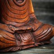 Meditation conceptual image with focus on Buddhas hands — Stock Photo #35289499