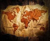 Treasure map on wood table — Stok fotoğraf