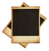 Vintage instant photo frames isolated on white — Foto Stock