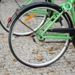 Bicycle detail on street — Stock Photo