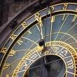 Detail of the astronomical clock in Prague — Stock Photo