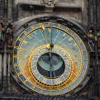Stock Photo: Detail of the astronomical clock in Prague