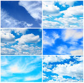Sky collage — Stockfoto