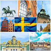 Sweden collage — Stock Photo
