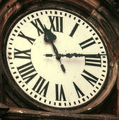 Vintage image of old clock — Stock Photo