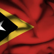 Stock Photo: East Timor waving flag