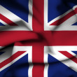 Great Britain waving flag — Stock Photo #38535905