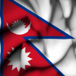 Nepal waving flag — Stock Photo #38537829