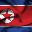North Korea waving flag — Stock Photo #38537997