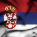 Serbia waving flag — Stock Photo