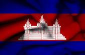 Cambodia waving flag — Stock Photo