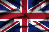 Great Britain waving flag — Stock Photo