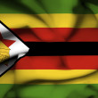 Stock Photo: Zimbabwe waving flag