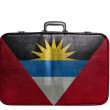Stock Photo: Vintage travel bag with flag of Antiguand Barbuda