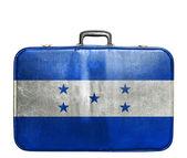 винтажная туристическая сумка с флагом гондураса — Стоковое фото