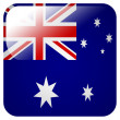 Glossy icon with flag of Australia — Stock Photo #39834411