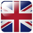 Glossy icon with flag of Great Britain — Stock Photo #39836539