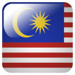 Glossy icon with flag of Malaysia — Stock Photo #39837355