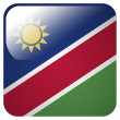 Glossy icon with flag of Namibia — Stock Photo #39837641