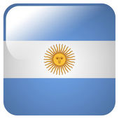 Glossy icon with flag of Argentina — Stock Photo