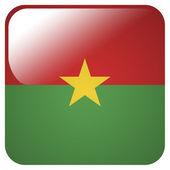 Glanzende pictogram met de vlag van burkina faso — Stockfoto