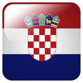 Glossy icon with flag of Croatia — Stock Photo
